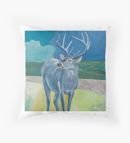 Springtime Deer Throw Pillow