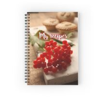 My Recipes - Xmas Mince Pie Spiral Notebook