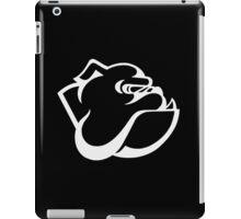 angry tough black bullgog iPad Case/Skin