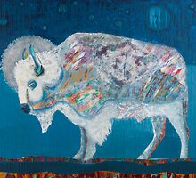 Midnight White Buffalo by jane lauren