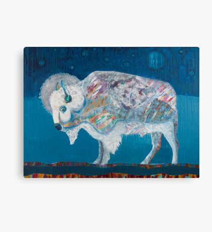 Midnight White Buffalo Canvas Print