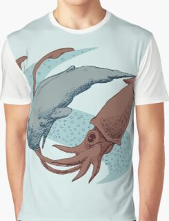 Sperm Whale And Giant Squid Graphic T-Shirt