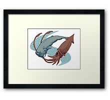 Sperm Whale And Giant Squid Framed Print