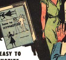How To Hypnotize Retro Vintage Ad  Sticker