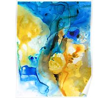 Iced Lemon Drop - Abstract Art By Sharon Cummings Poster