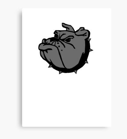 angry tough black bullgog Canvas Print