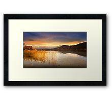 Scirocco clouds over Wörthersee Framed Print