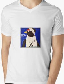 Cutie Pie Penguin - by Nadia Mens V-Neck T-Shirt