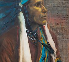 Raven Blanket - Nez Perce, Native American Chief by Jane Lauren