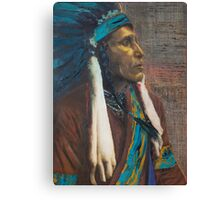 Raven Blanket - Nez Perce, Native American Chief Canvas Print
