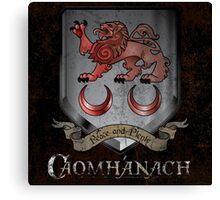 Caomhánach Shiny Shield Canvas Print