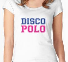 DISCO POLO Women's Fitted Scoop T-Shirt