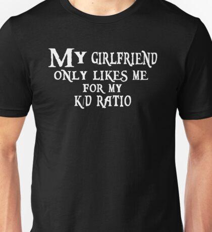 K/D Ratio, black Unisex T-Shirt