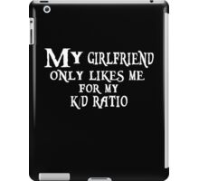 K/D Ratio, black iPad Case/Skin
