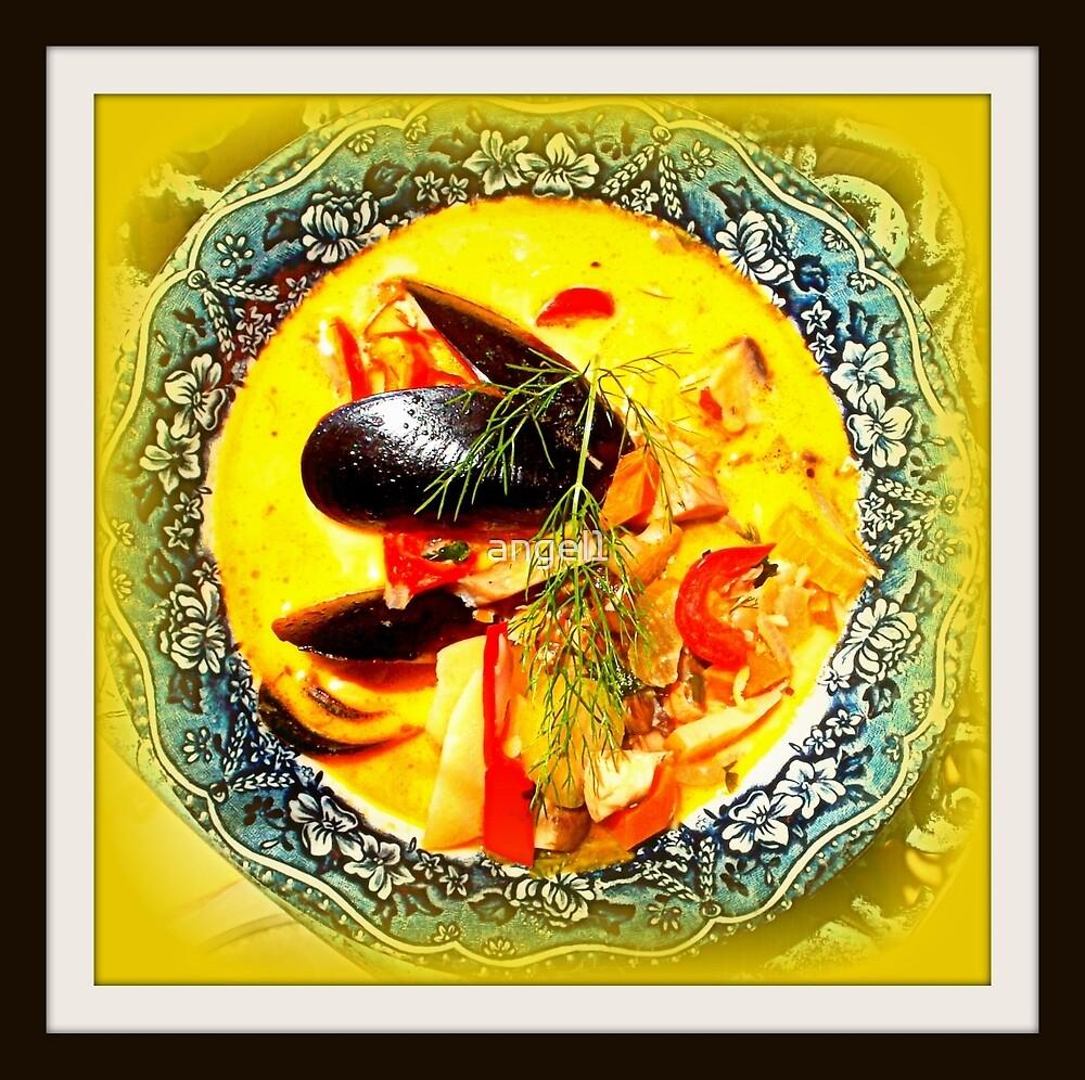 Nova Scotia Seafood Chowder Framed by ©The Creative  Minds