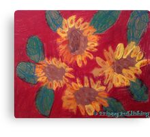Lola's Sweet Sunflowers Canvas Print