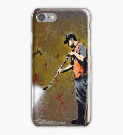 Council Worker by Banksy iPhone Case/Skin