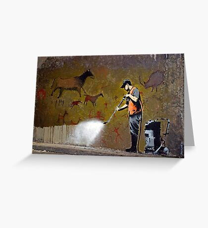 Council Worker by Banksy Greeting Card