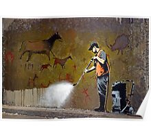 Council Worker by Banksy Poster