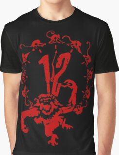 12 Monkeys - Terry Gilliam - Red on Black Graphic T-Shirt