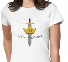 Self Rescuing Princess Womens Fitted T-Shirt