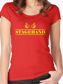 Stagehand Yellow Women's Fitted Scoop T-Shirt