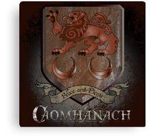 Caomhánach Rusty Shield Canvas Print