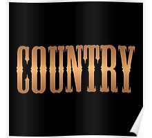 Country music copper Poster