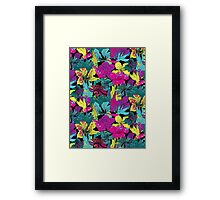 summernight / floral pattern Framed Print