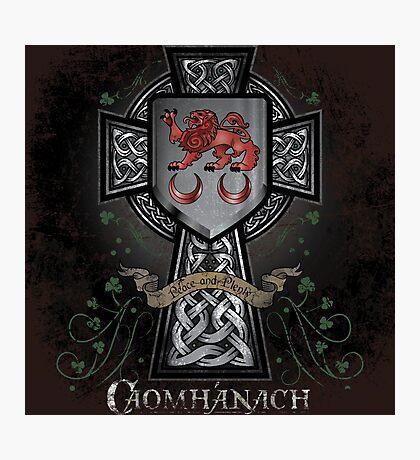 Caomhánach Celtic Cross Photographic Print