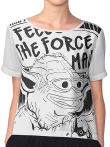"""Pepe The Frog """"Feels The Force Man"""" Chiffon Top"""