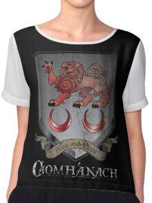 Caomhánach Shiny Shield Chiffon Top