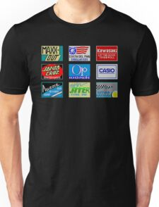 CALIFORNIA GAMES SPONSORS - MASTER SYSTEM  Unisex T-Shirt