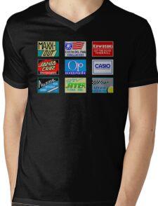 CALIFORNIA GAMES SPONSORS - MASTER SYSTEM  Mens V-Neck T-Shirt