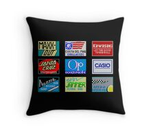CALIFORNIA GAMES SPONSORS - MASTER SYSTEM  Throw Pillow