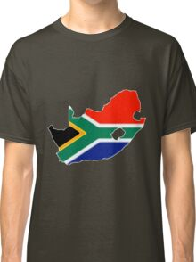 South Africa Map with South African Flag Classic T-Shirt