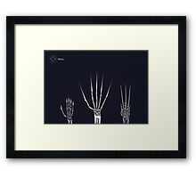 The Wolverine Claws  Framed Print