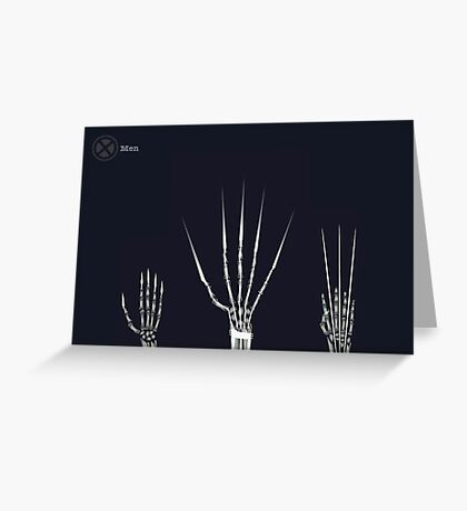 The Wolverine Claws  Greeting Card