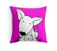 Cute English Bull Terrier  Throw Pillow