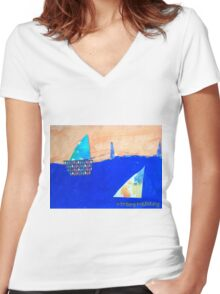 Let's Set Sail - by Colin Women's Fitted V-Neck T-Shirt