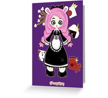 Cosplay Girl by Lolita Tequila Greeting Card