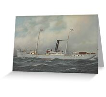 Antonio Jacobsen - 'Olympia' Steamship,  Greeting Card