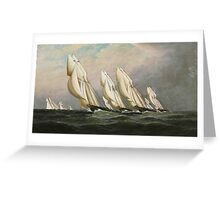 Antonio Nicolo Gasparo Jacobsen - 'Racing Schooners Greeting Card