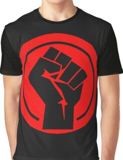 Red Socialist Fist Graphic T-Shirt