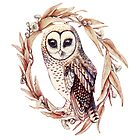 Little Owl in Golden Ecru by ThistleandFox