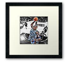 Kevin Garnett Dunk Framed Print