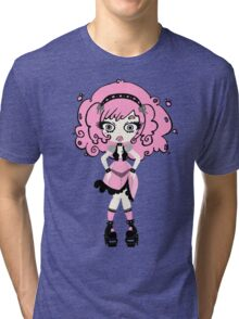 Cotton Candy Girl by Lolita Tequila Tri-blend T-Shirt