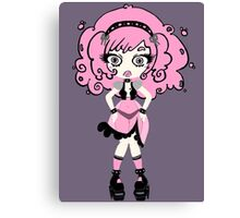 Cotton Candy Girl by Lolita Tequila Canvas Print