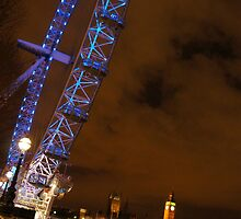 London Eye at Night by KrystleLea