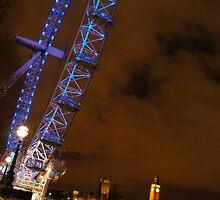 London Eye at Night by KrystleLea